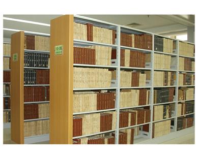 群体组合钢木书架